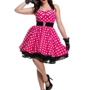 Women's Pink Polka Dot Pin Up Costume