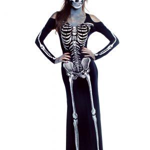 Women's Plus Size Bone Appetit Skeleton Long Dress
