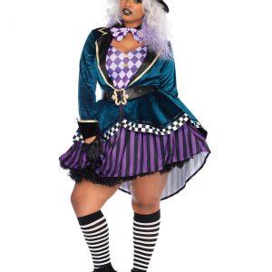 Women's Plus Size Delightful Mad Hatter Costume