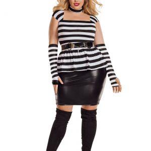 Women's Plus Size Jailbird Costume
