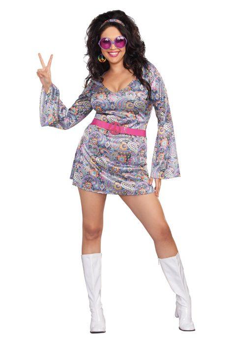 Womens Plus Size Love-Fest Costume