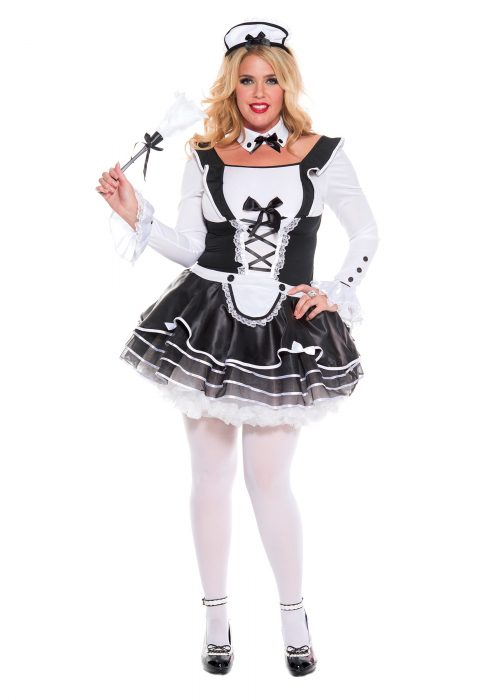 Women's Plus Size Pretty and Proper French Maid