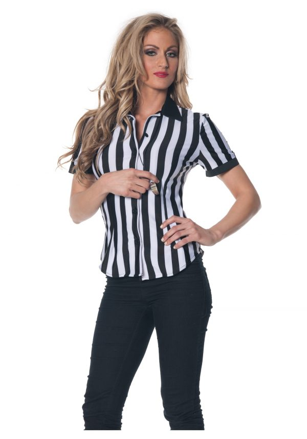 Women's Plus Size Referee Shirt