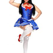 Women's Plus Size Sailor Corset Costume