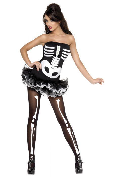 Womens Plus Size Sexy Skeleton Costume
