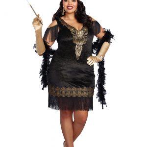 Women's Plus Size Swanky Flapper Costume