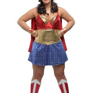 Womens Plus Size Wonder Lady Costume