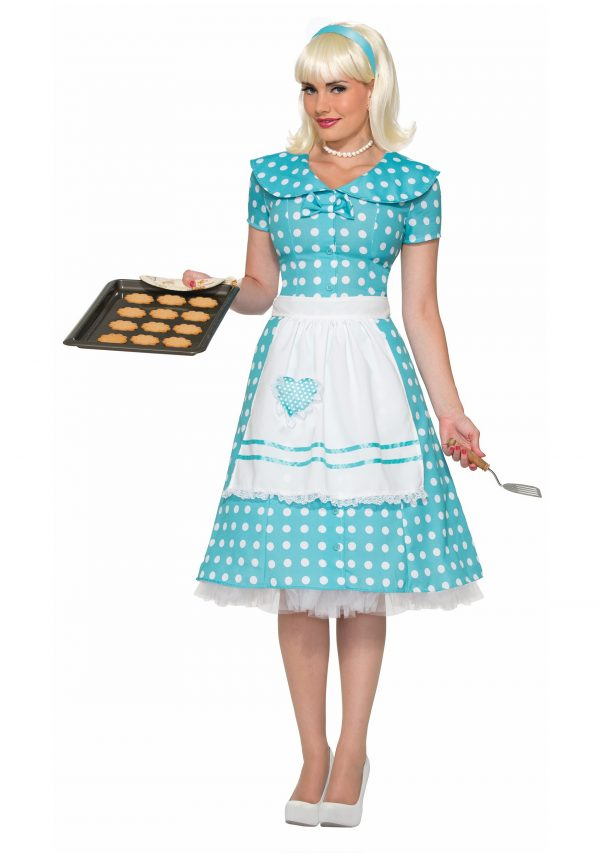 Women's Polka Dot Housewife Costume