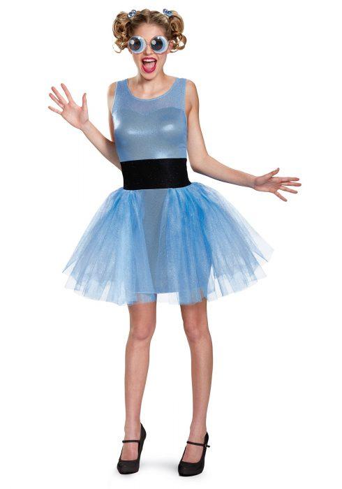 Women's Powerpuff Girls Bubbles Deluxe Costume