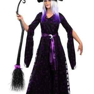 Women's Purple Moon Witch Costume
