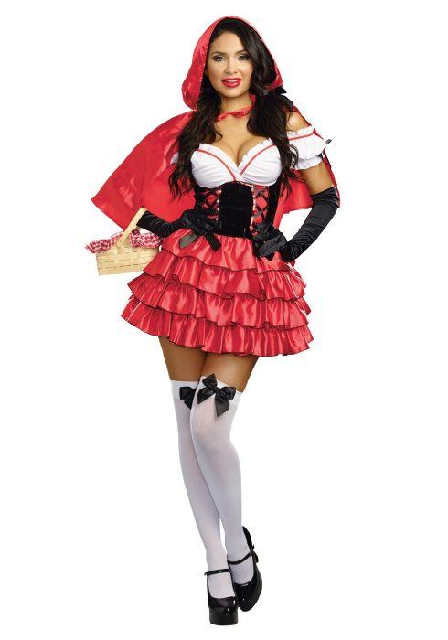 Women's Ruffled Red Riding Hood Costume