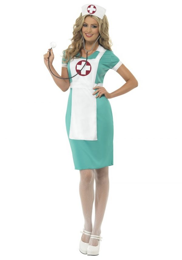 Womens Scrub Nurse Costume