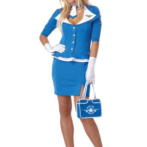 Womens Sexy Retro Stewardess Costume