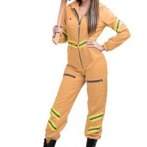 Women's Tan Firefighter Jumpsuit