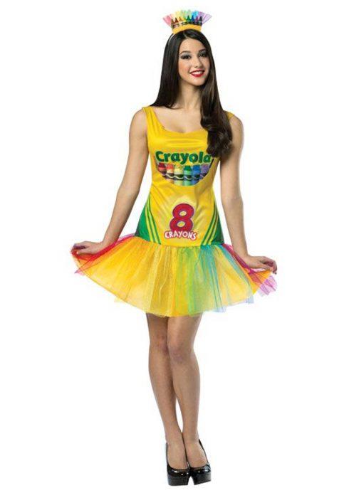 Women's Tutu Crayon Dress