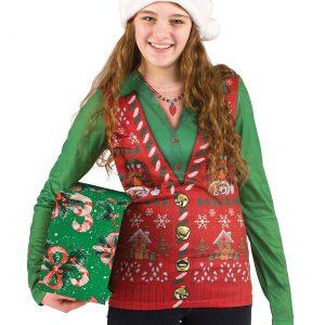 Women's Ugly Christmas Sweater Vest Shirt