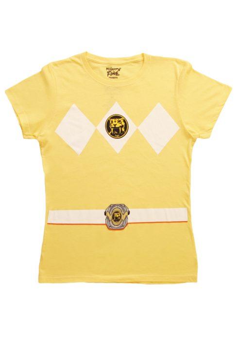 Womens Yellow Power Ranger Costume T-Shirt
