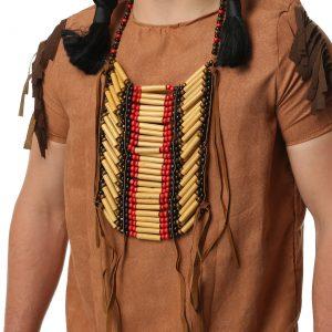 Wooden Beaded Native American Breastplate