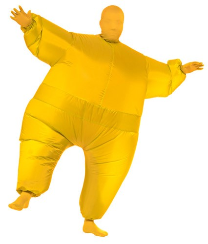 Yellow Inflatable Skin Suit Costume