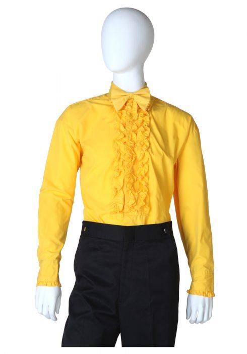 Yellow Ruffled Tuxedo Shirt