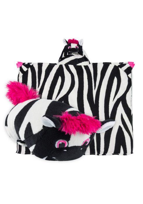 Ziggy the Zebra Comfy Critter Blanket